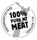 100% Pure NZ Meat Logo